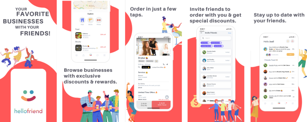 Hellofriend seeks to help people stay connected with social ordering